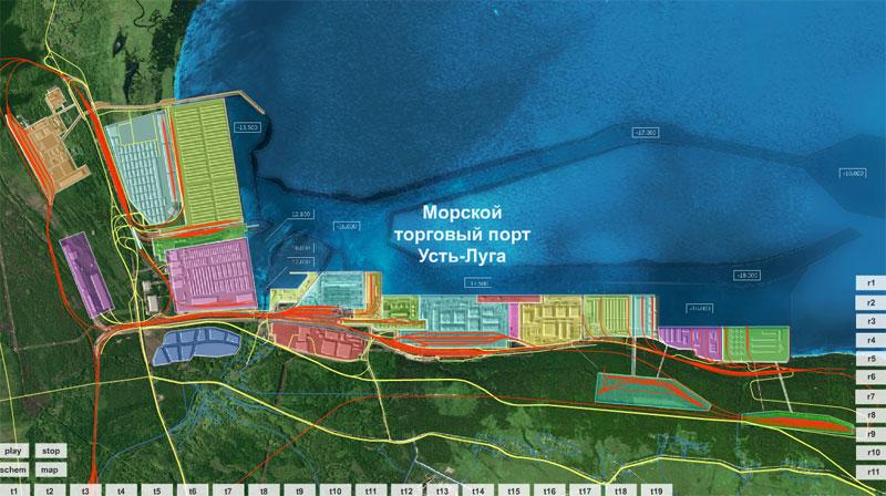 порта Усть-Луга: терминалы