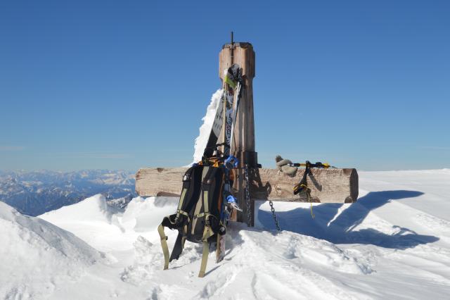 Mangart - smučanje z vrha