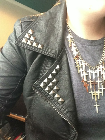 EBAY Studded Leather Jacket