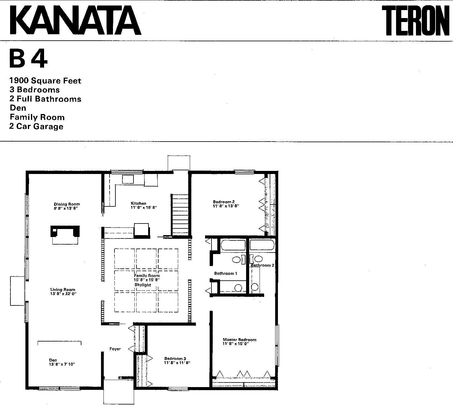 Mid century modern and 1970s era ottawa california modern Eichler atrium floor plan