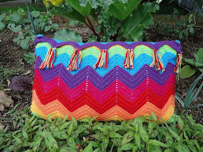 Crochet Ripple Pattern Pillow The Merry Cherub