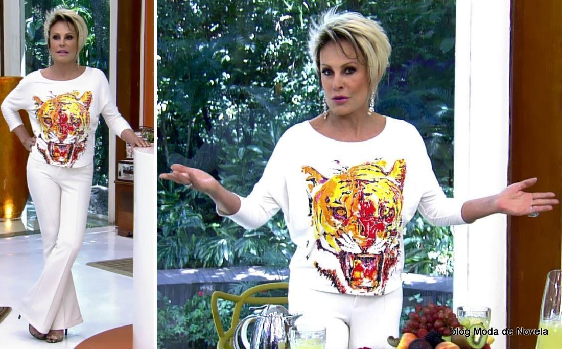 moda do programa Mais Você - look da Ana Maria Braga dia 7 de março