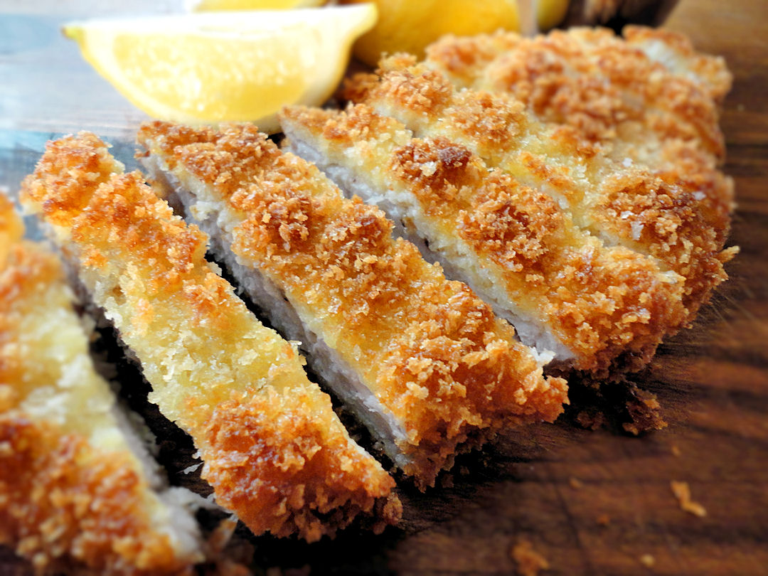 Tonkatsu is a popular pork dish from Japan. The meat is usually salted ...