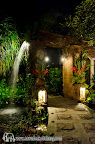 Garden entrance by night