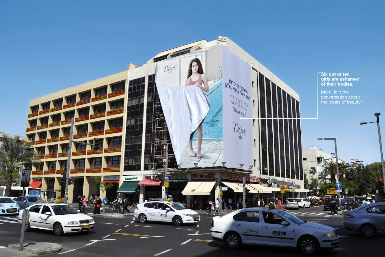 Massive Dove Billboard Erected In Tel Aviv
