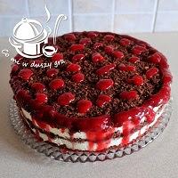 ciasto malinowe w tortownicy- z masą