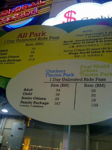 Harga Tiket Di Taman Tema Genting