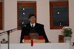 A gyülekezet lelkésze Zalatnay István köszönti a vendégeket