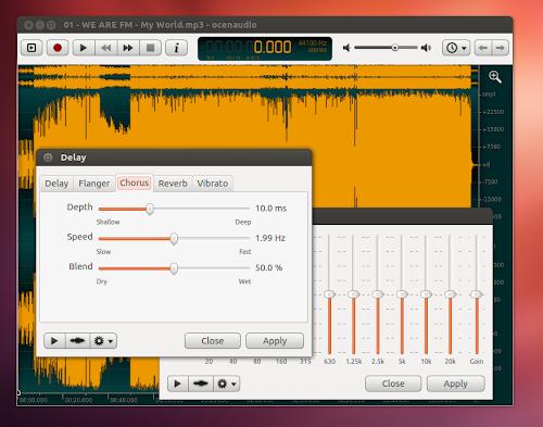 OcenAudio  su Ubuntu 12.04
