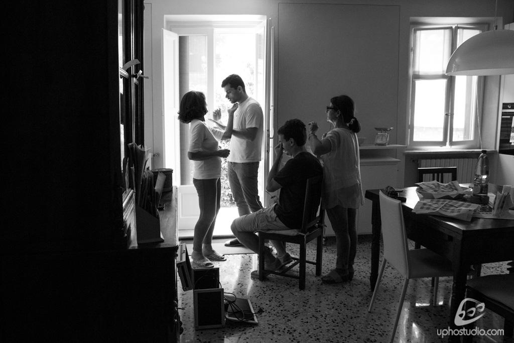 Fotografia di matrimonio: a casa della sposa