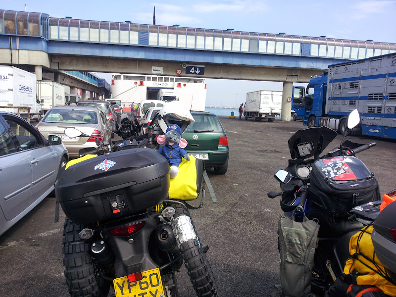In the ferry queue