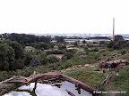 Blick über Berberaffengehege und Zoo