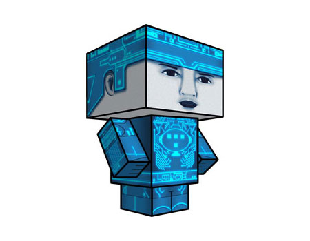 Tron Paper Toy