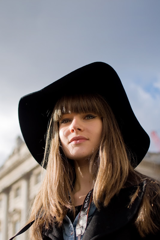 Statement Hat at London Fashion Week