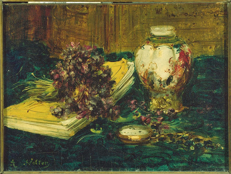Antoine Vollon - Violets - Google Art Project