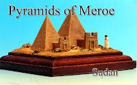 Pyramids of Meroe & Sagittarius serpentarius ‐Sudan‐