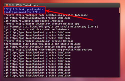Update su Ubuntu