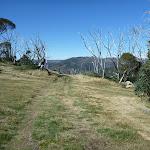 Walking along the grassy Merritts Traverse east of Gunbarrel Express (272735)