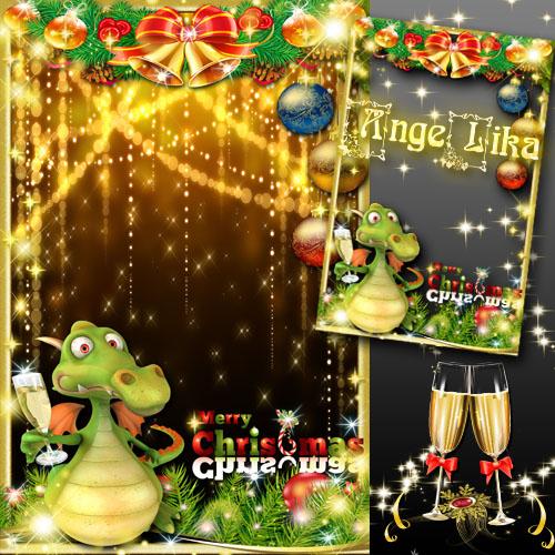 Праздничная рамка для фото - Веселого рождества