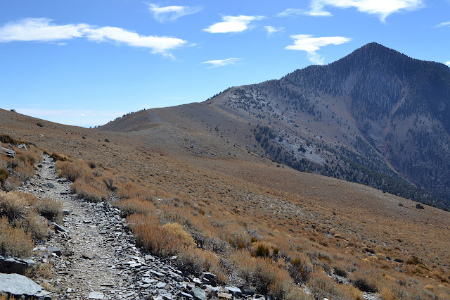 following the trail around Bennett Peak
