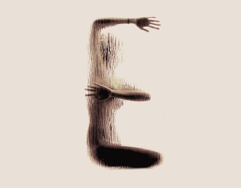 *女性裸體字母剪影:希臘藝術家Anastasia Mastrakouli 解剖人體視覺奧秘! 6