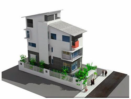 Biệt thự mang phong cách nhà phố