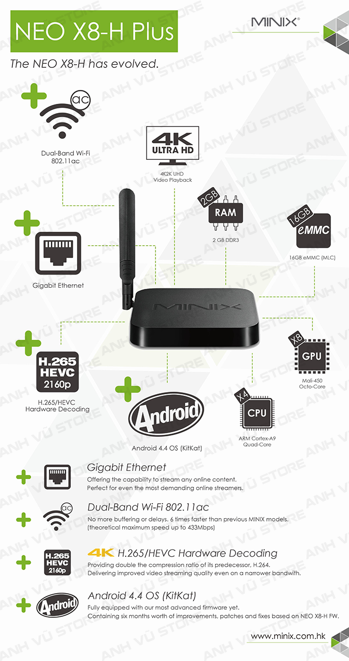 minix neo x8-h plus android tv box + ban phim chuot bay minix neo a2 lite 01