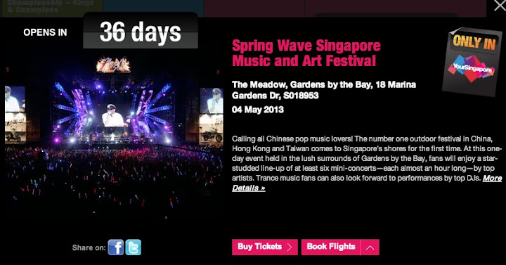 Spring Wave Festival Happening in Singapore