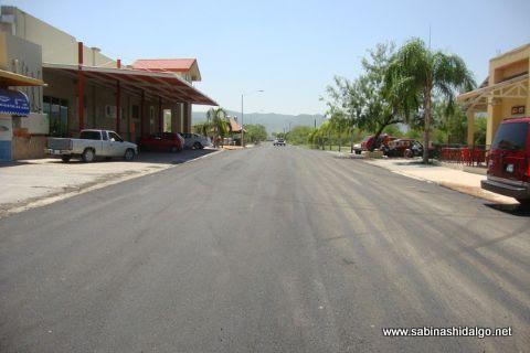 Pavimentación en calle Manuel Ancira