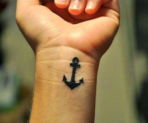 Anchor cool wrist tattoos