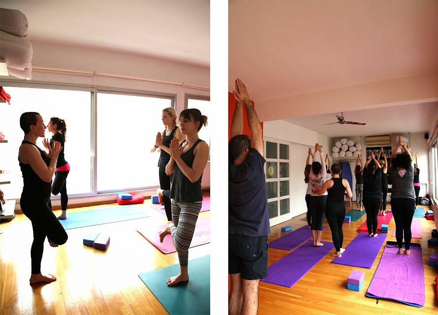 Zeynep's class at yogasala