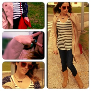 RCM, Stylist: My look for the day... in navy inspired Stripes