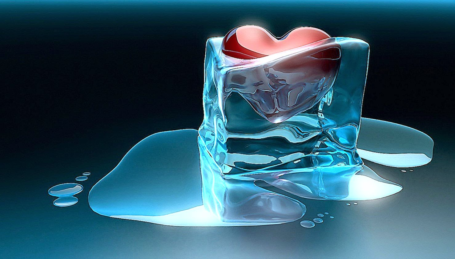 Melting Heart Ice 3D Wallpapers Hd