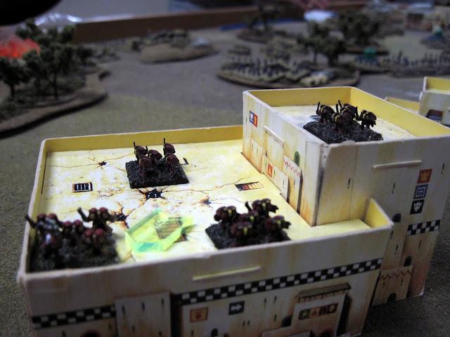 Matt's Assault Marines hold an Ork building