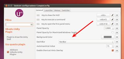 Ubuntu 13.04 - CCSM Dash Blur