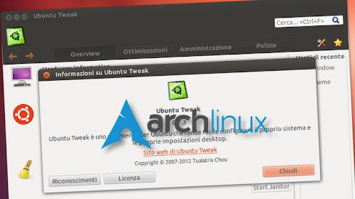Ubuntu Tweak se ne va da Ubuntu e approda su Arch Linux