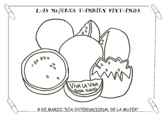 Frida Khalo Para Colorear: A MÍ ME GUSTA EL COLE: Frida Kahlo
