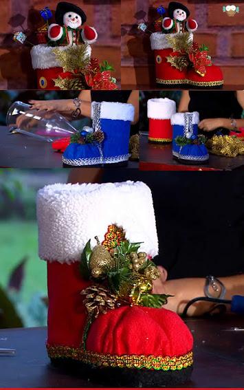 Armario Abierto Madera ~ Passo a passo bota de natal com garrafa PET u2013 Artesanato Brasil