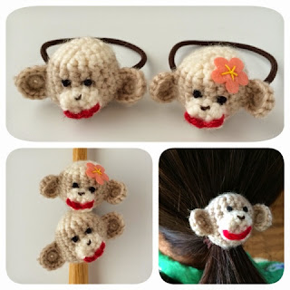 Amigurumi Sock Monkey Hair Elastics