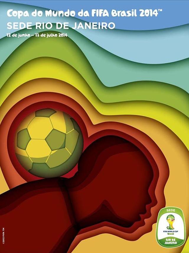 Cartaz Rio de Janeiro sede copa do mundo