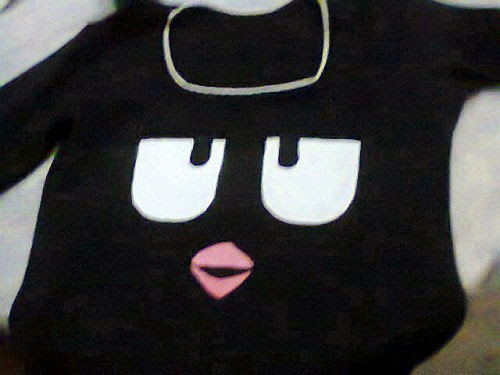 Customizando blusa Angry Birds
