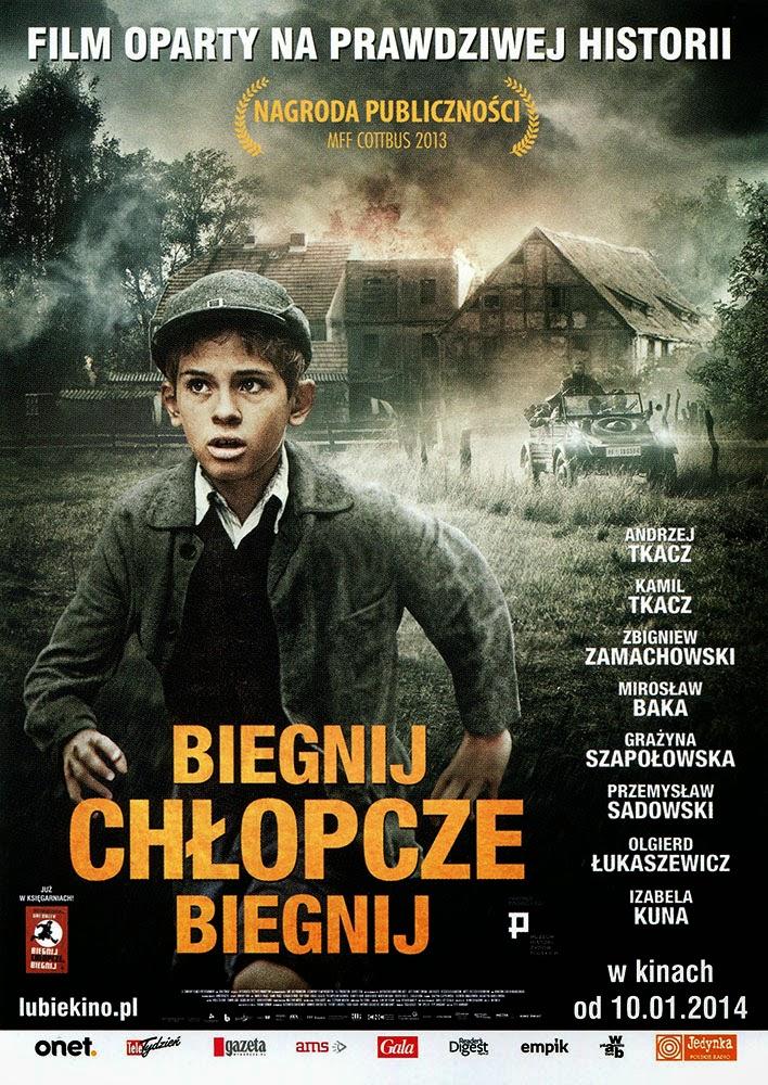 Ulotka filmu 'Biegnij, Chłopcze, Biegnij (przód)'