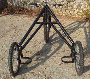 cart 3 roues TRACZER vue arriere