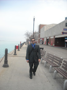 Walking on Navy Pier