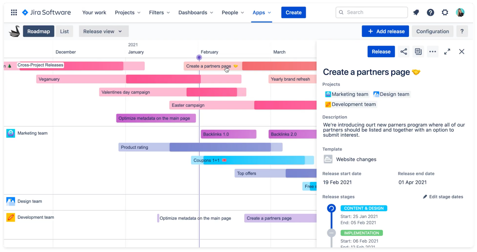 Swanly report panel - project management for Jira