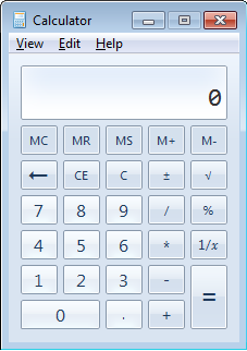 Basic windows calculator