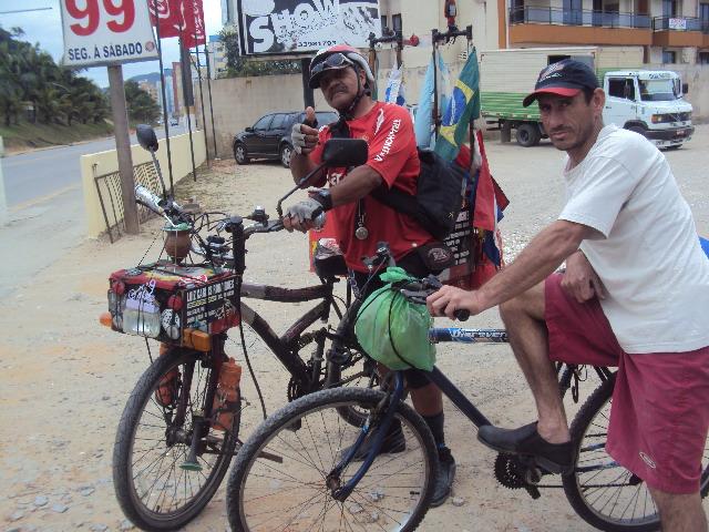 Luiz Carlos e sua bicicleta