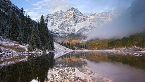 Early Snowfall, Maroon Bells, Snowmass, Colorado.jpg