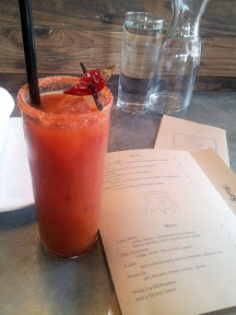 The Cuate Mary with chili infused tequila, tomato, pimenton, and calabrian chili at Tasty n Alder
