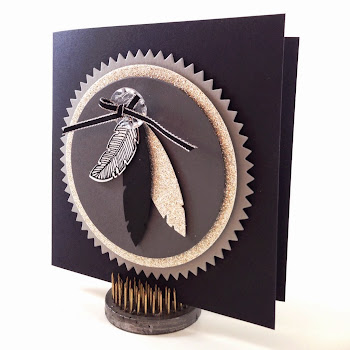 Four Feathers Card - Sunday Stamping on Linda Vich Creates